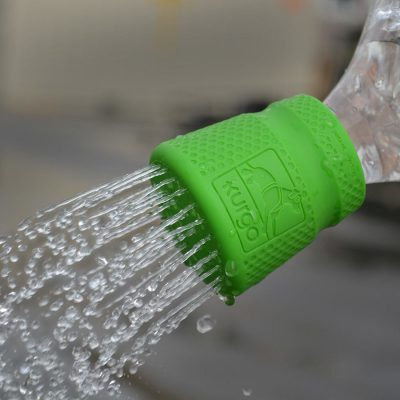 Green shower cap for water bottle