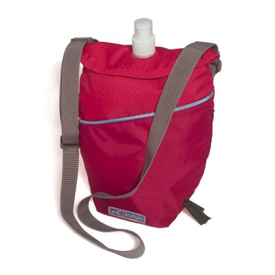 Red Kurgo dog canteen with carry handle