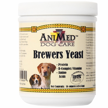 Brewers Yeast supplement for pets by Animed dog care