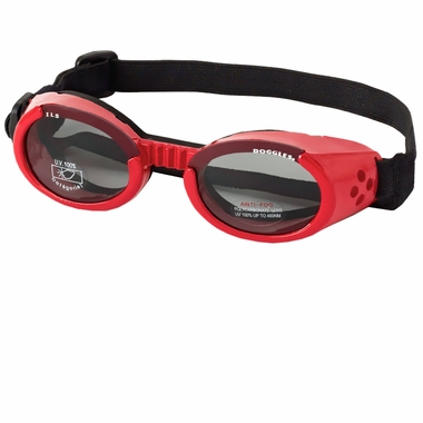 Red goggles for dogs by Doggles