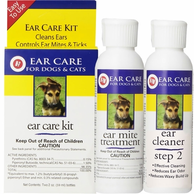 Ear cleaning kit for dog and cat ears