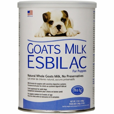 Goats Milk Esbilac as a mother's milk replacement for pets