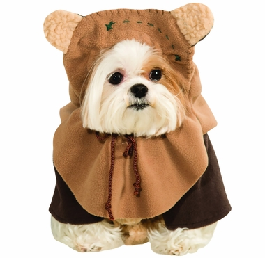 Shih Tzu dog wearing a Star Wars Ewok costume
