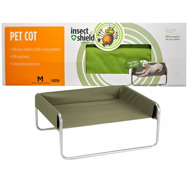 Dog cot with insect repellant by Insect Shield