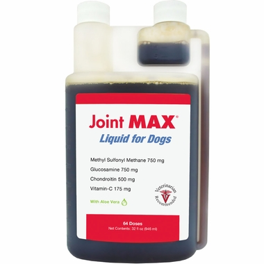Jug of liquid joint supplement by Joint Max for dogs