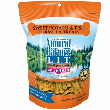 Sweet Potato and Fish dog bisquits by Natural Balance