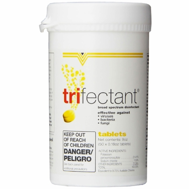 Disinfectant tablets called Trifectant
