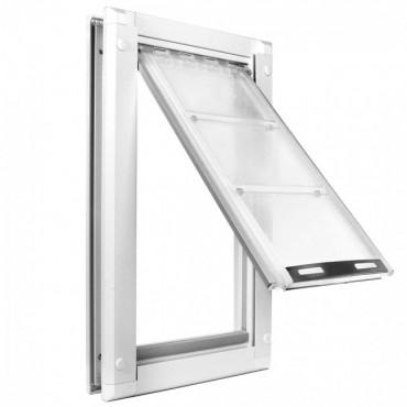 Endura single flap pet door insert for house door