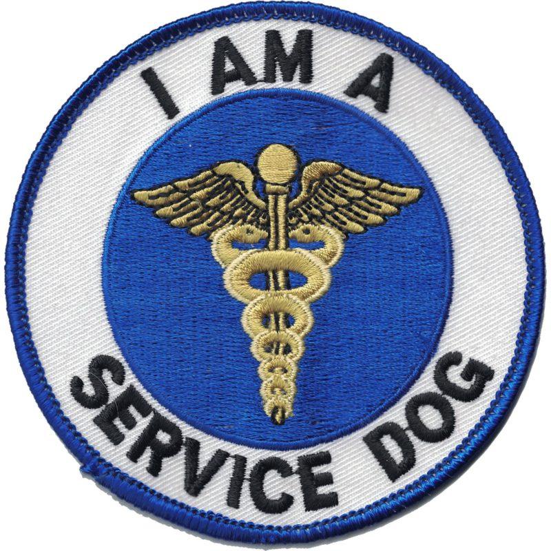 I am a service dog badge